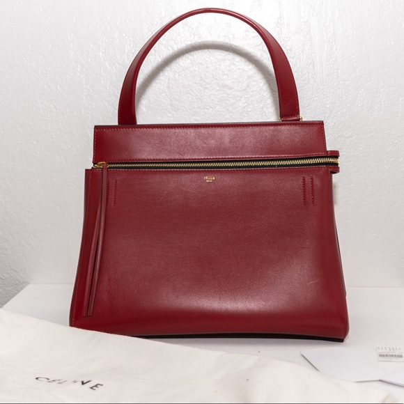146a7ce67bea Celine Red Smooth Calfskin Leather Edge Bag